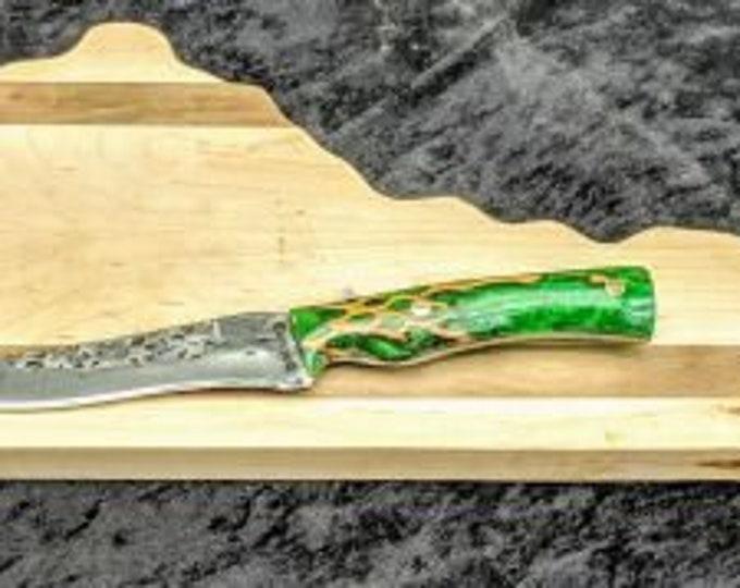 Hand Forged Recurve Hunting Kitchen Deboning Knife