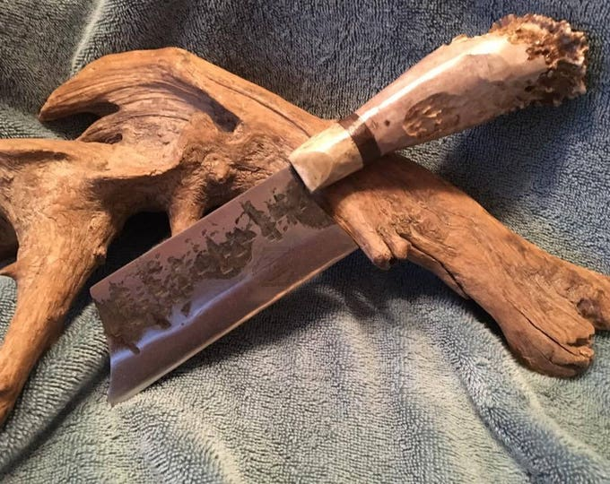 Hand Forged, Antler Handle Cleaver