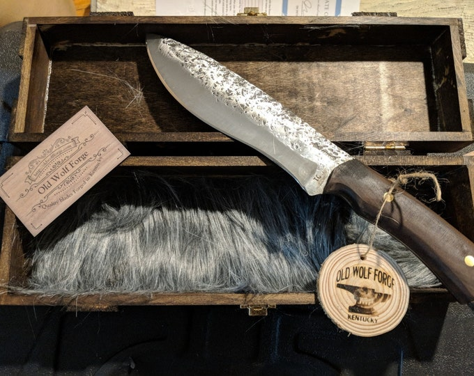 Hand forged camp/chef knife