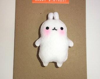 Molang Magnet Card. Kawaii card, birthday card, anniversary card, valentines card, magnet card, rabbit