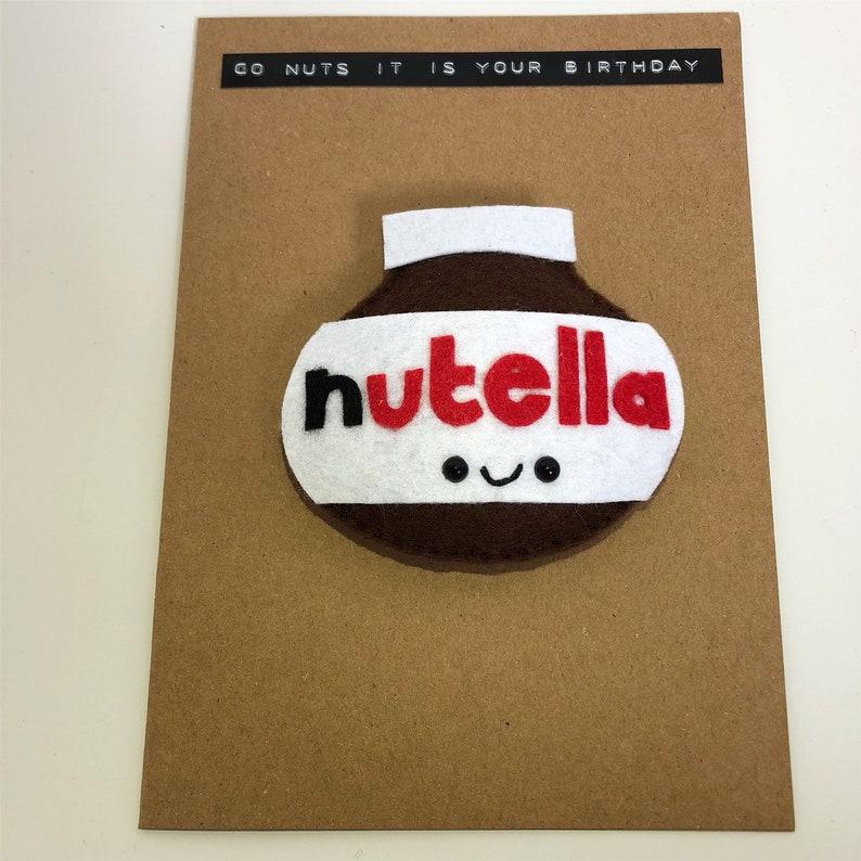 Carte Anniversaire Nutella.Nutella Aimant Carte Carte D Anniversaire Carte De Fete Des Morhers Carte De Fete Des Meres Mignon Carte D Anniversaire Cadeau Carte