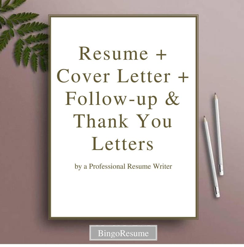 Resume & Cover Letter Follow-up and Thank You Letters Writing | Etsy