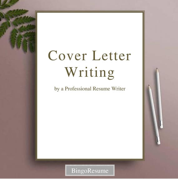 cover letter writing by a professional resume writer etsy