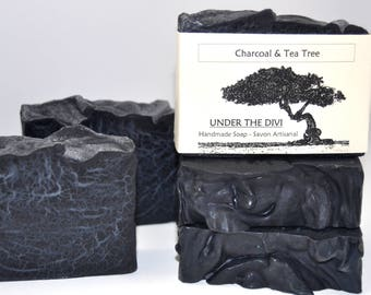 Activated Charcoal Soap Vegan Charcoal Soap Acne Charcoal Soap Acne Face Soap Tea Tree Essential Oil Homemade soap Natural soap Cold Process