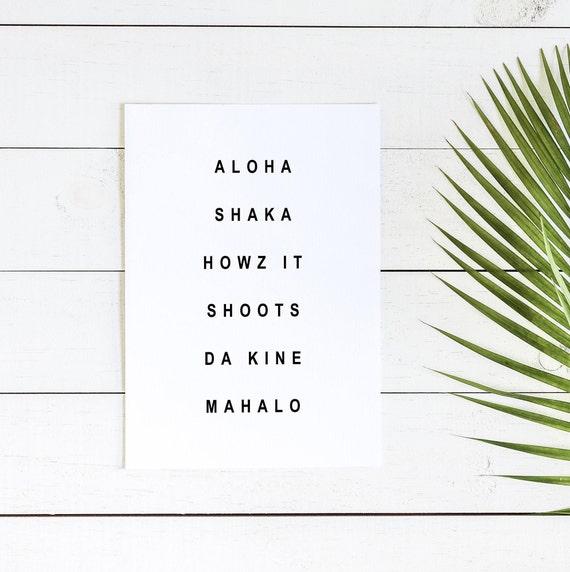 Hawaiian Words, Hawaiian Decor, Hawaii Wall Art, Aloha, Beach Decor, Home  Decor, Rental Decor, Hawaii Wall Art, Printable Wall Art,