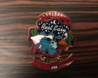 Disney Wdw Pin Route 498 Stitch & Scrump Rest Easy Campground Dangle Le 500 Pin