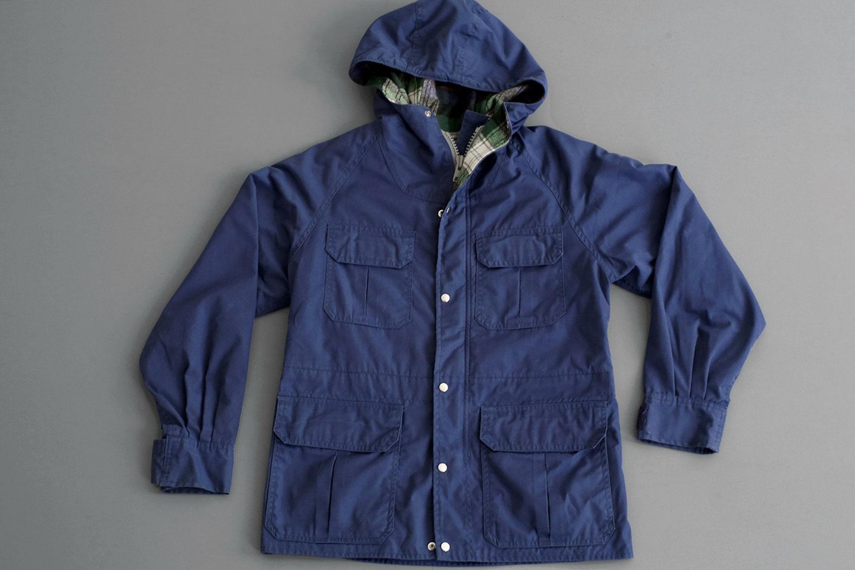 3d13626dd555ff Parka bleu marine Vintage - veste - extérieure - Cagoule - veste taille  homme XS - femme S M c3a7ba