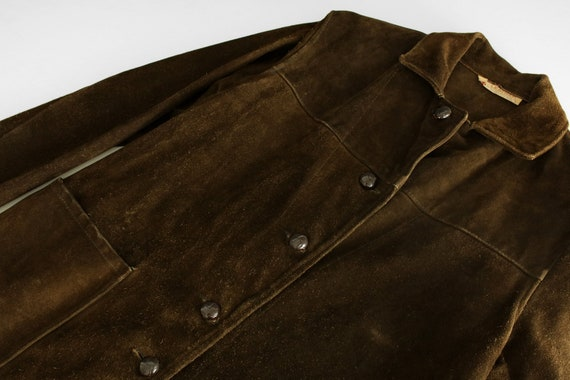 années années années 1950 Western/Rancher veste en cuir Suede - Made in USA - années 1960/1970 - Mens Sz. S 36-38 poitrine brun / / femme taille L aa3faa