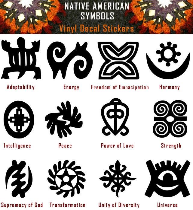Native American Symbols Vinyl Decal Sticker Car Window Wall Etsy