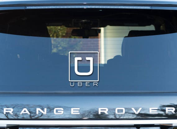 uber vinyl decal sticker car window vehicle bumper rideshare etsy. Black Bedroom Furniture Sets. Home Design Ideas