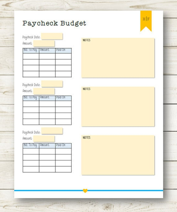 image relating to Paycheck Budget Printable identify Paycheck Price range Printable
