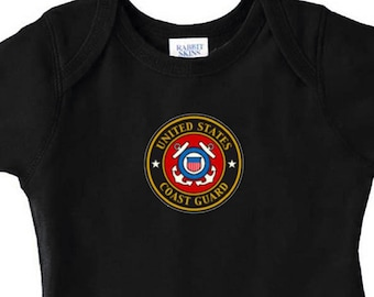 USCG Coast Guard Military Infant Baby Kid Mom Gift Bodysuit One NB 6mo-18mo