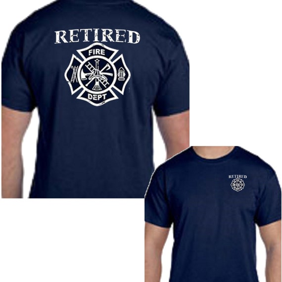 Personalized Maltese Cross Fire Fighter Fire Department T-shirt Custom tee shirt