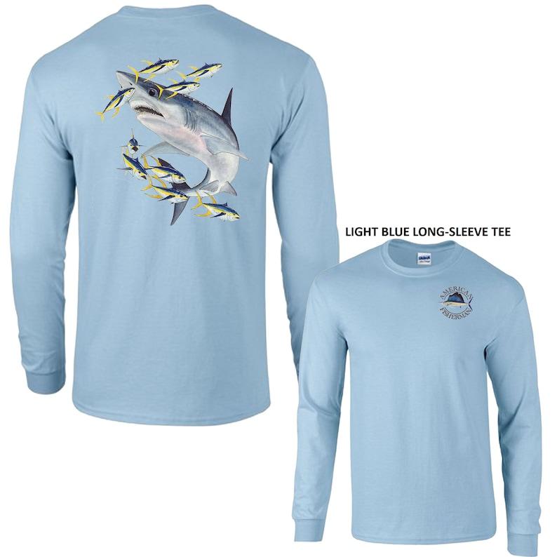 Shark Off Shore Fishing Long Sleeve T-Shirt