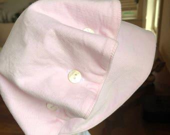 Girls Pink Corduroy Bonnet