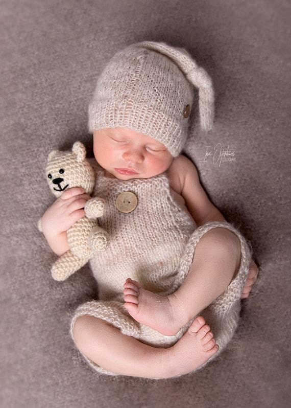 Fotoshooting Neugeborenen Bärchen Baby Fotographie  Mütze Beanie Bär