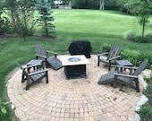 Reclaimed adirondack patio set