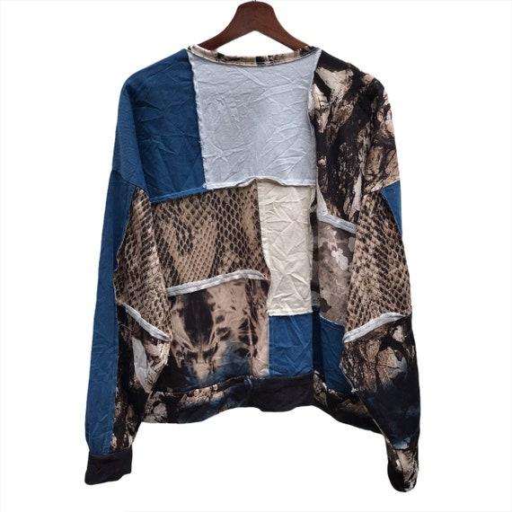 Vintage Zara patchwork Crewneck Sweatshirt - image 5