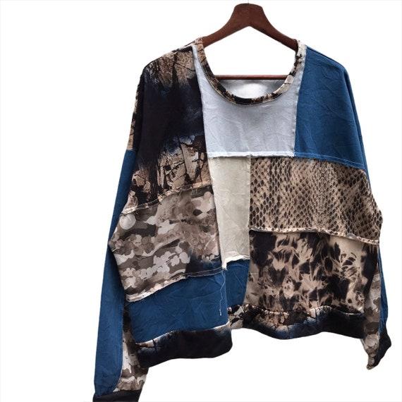 Vintage Zara patchwork Crewneck Sweatshirt - image 3