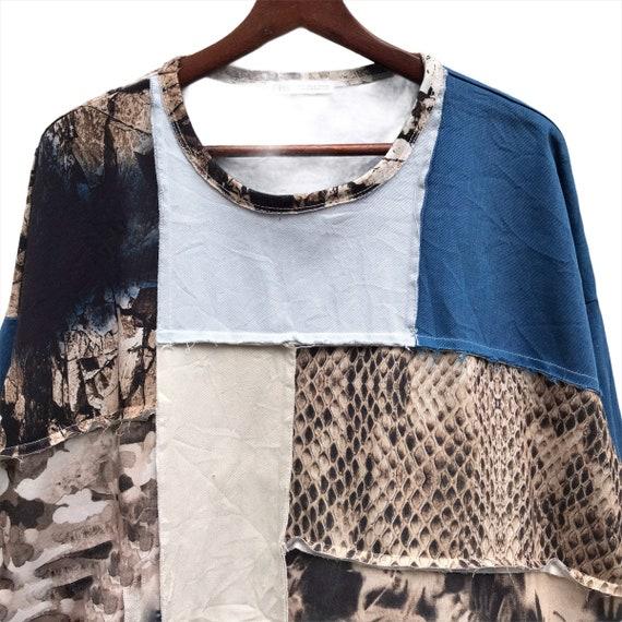 Vintage Zara patchwork Crewneck Sweatshirt - image 4