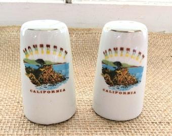 Vintage California Souvenir Salt and Pepper Shakers / Monterey California