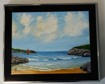 Sailing in the Bay- Original Oil painting  by Stephen Poulter