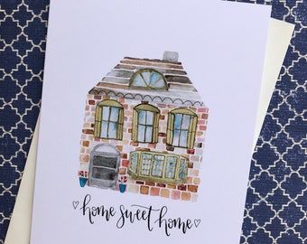 House warming card - Home Sweet Home