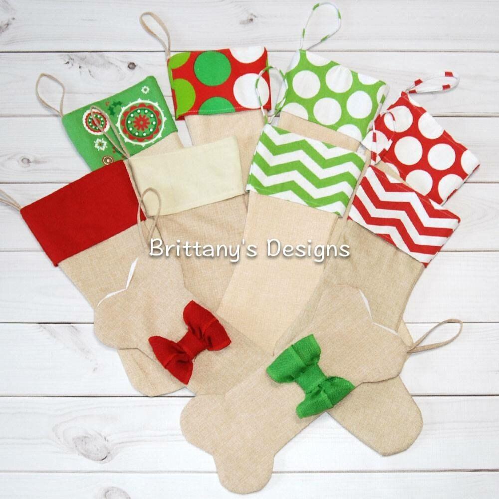Burlap stockings Christmas stockings dog stockings | Etsy