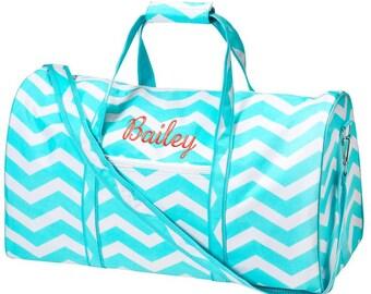 Girls Duffle Bag - Personalized Travel Bag - Monogrammed Duffle Bag - Birthday Gift - Overnight Bag - Custom bag - Carry On Bag - Travel Bag