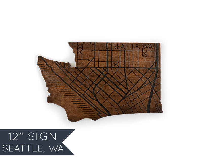 Seattle Wall Art Washington Custom Sign Home Decor New
