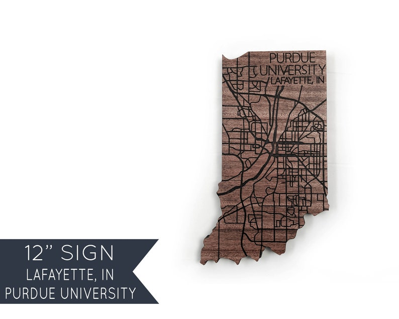 ce52e6b34119 Purdue University Gifts West Lafayette Boilermakers Sign