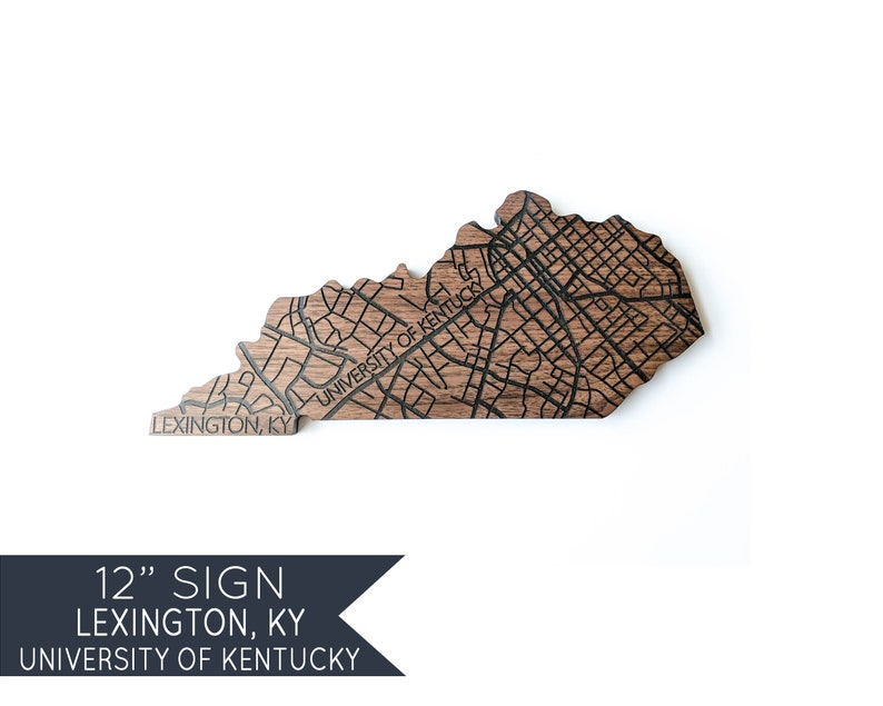 University of Kentucky Wildcats Gifts Lexington Kentucky Art College  Graduation Gifts Wooden Map Wall Decor Wood Birthday Ideas for Him