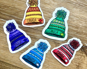 c0ca6a2ee72 Canada Toque – Choose ONE colour – Small – Vinyl Stickers – Outdoor Durable  – Dishwasher Safe – Colourful – Art