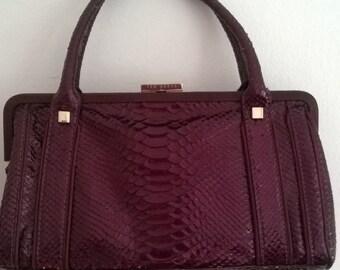 d7d0e7ee3d1938 VINTAGE TED BAKER Genuine snake skin python handbag