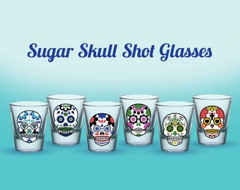 Sugar Skull Shot Glasses