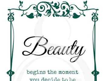 Deccorative poster - Beauty Green