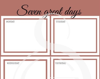 Weekly planner - Dusty pink