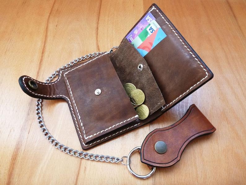 Leather billfold wallet,handmade,hand carved,medium wallet