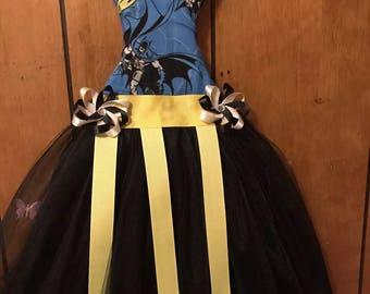 Handmade batman bow organizer