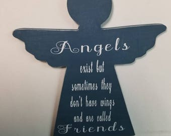 Angels Exist - Friends - Wall Decor