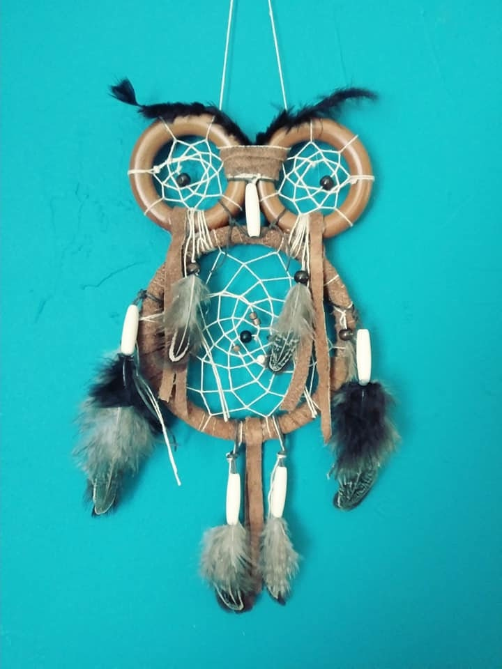 Owl Dreamcatcher Small Owl Dream Catcher Owl Totem Animal