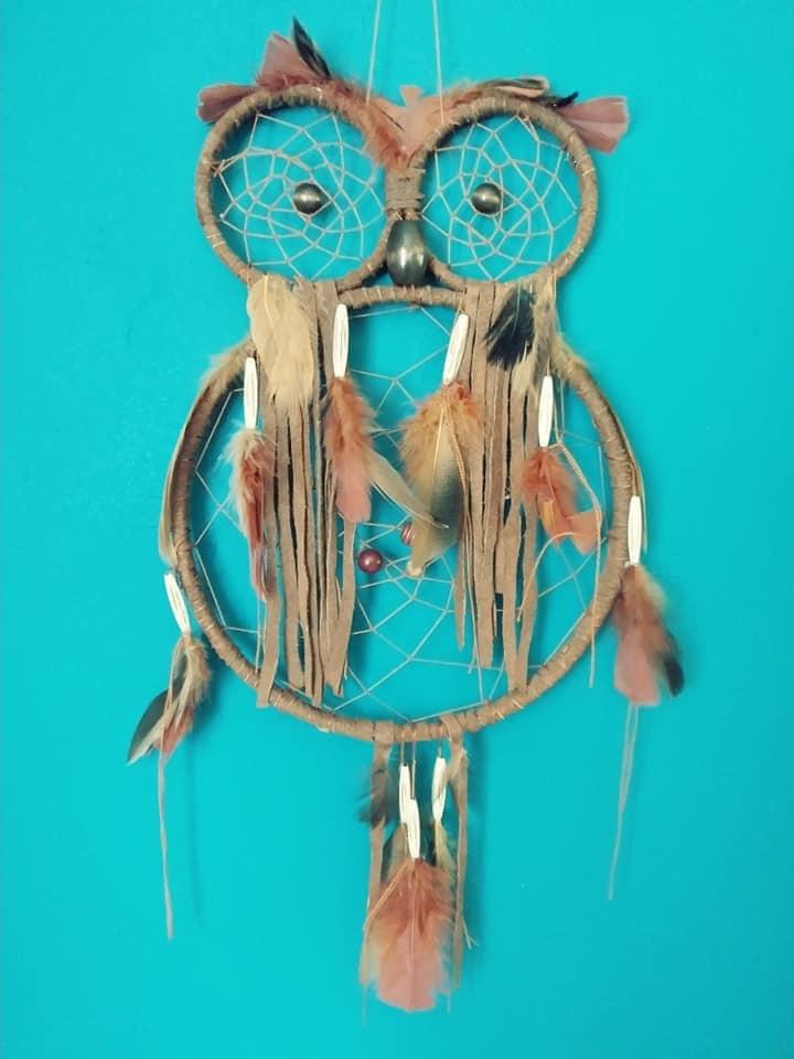 Owl Dreamcatcher Large Owl Dream Catcher Owl Totem Animal Best Animal Dream Catchers
