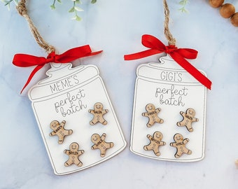 Family Christmas Ornament, Personalized, Grandparent's Ornament, Gingerbread Ornament, Cookie Jar