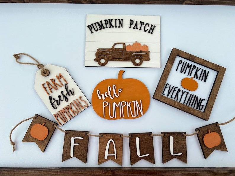 Wooden Tray Decor Fall Decor Fall Fall Tiered Tray Decor Farmhouse Decor Farmhouse Tiered Tray Fall Signs
