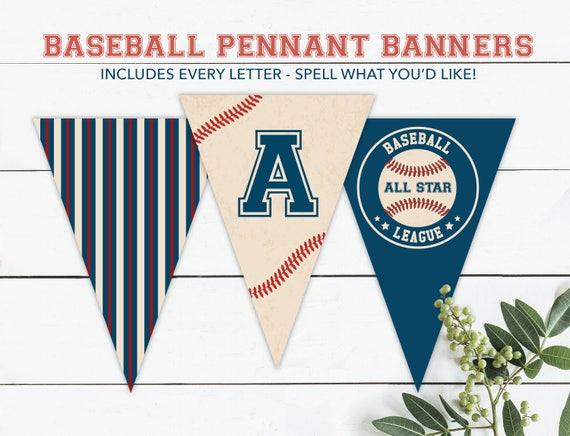 Baseball pennant banner vintage baseball sports party   Etsy