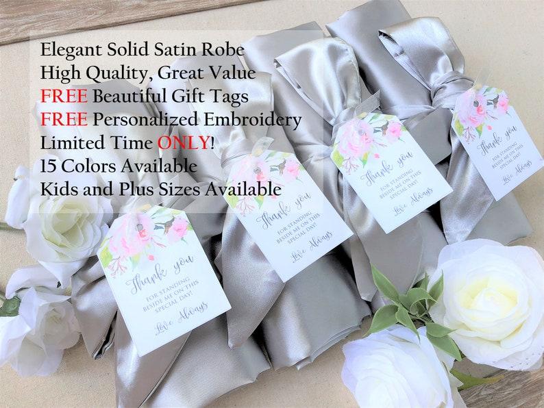 8ff716bb5e80 WEDDING SEASON SALE Set of 6 Bridesmaid Robe Silver Robe