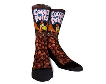 Coa Coa Puffs Cereal Socks Cool Novelty Socks