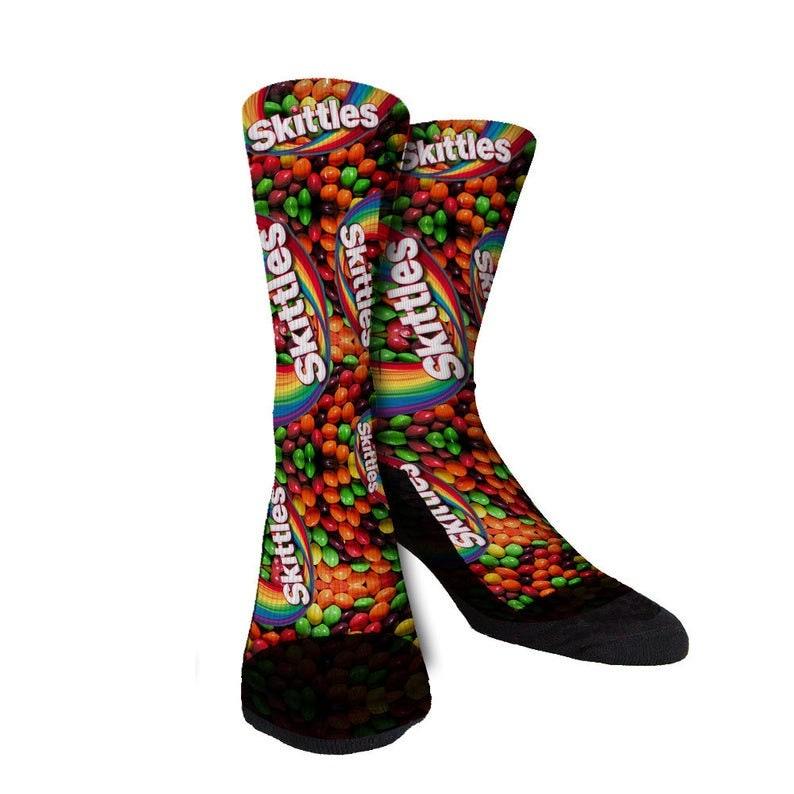 Skittles Socks Candy Socks Fun Socks Novelty Socks