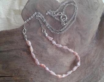 Lake Biwa rice pearl necklace