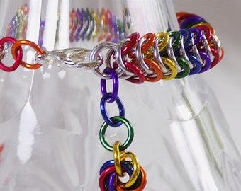 Box Chainmaille Rainbow Bracelet,Rainbow Bracelet,Box Chain Bracelet,Box Chainmaille Bracelet,Rainbow Chainmaille Bracelet